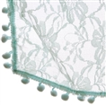 Newborn Bobble Spitzen Wickel Teal BLWT 50 x 70 cm